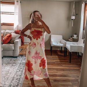Vintage floral silk dress Byer Too!